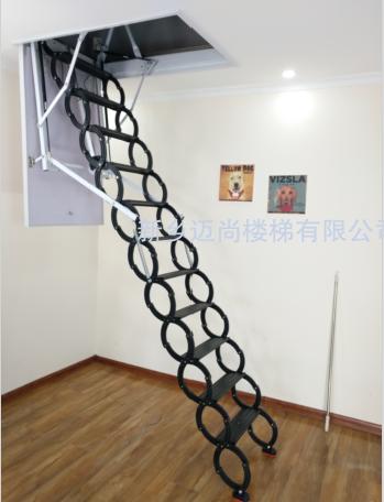 钛镁合金伸缩楼梯-黑色