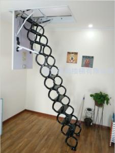 冷轧钢款伸缩楼梯-全黑色