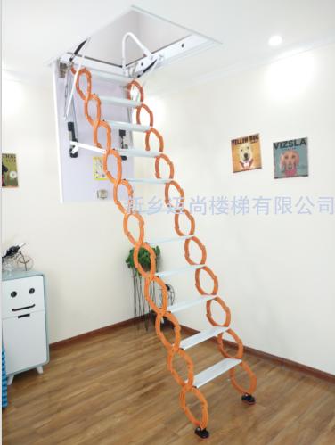 冷轧钢款伸缩楼梯-橙白色