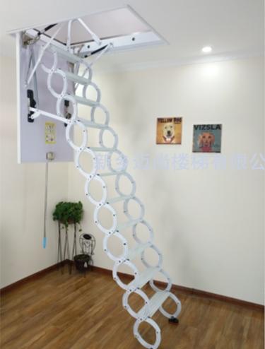 钛镁合金伸缩楼梯-白色