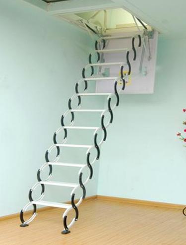 小户型阁楼伸缩楼梯