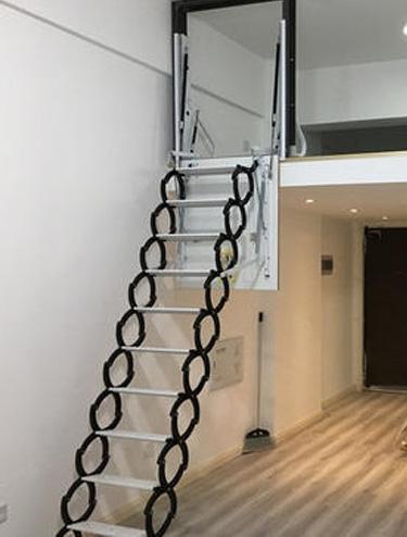 阁楼侧装式伸缩楼梯